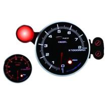 DEPO óra, műszer 95mm Fordulatszám mérő 8000 RPM Diesel